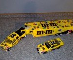 ernie irvan 1999 m&m truck and trailer set