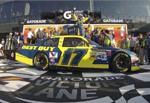 victory lane daytona 500 2012