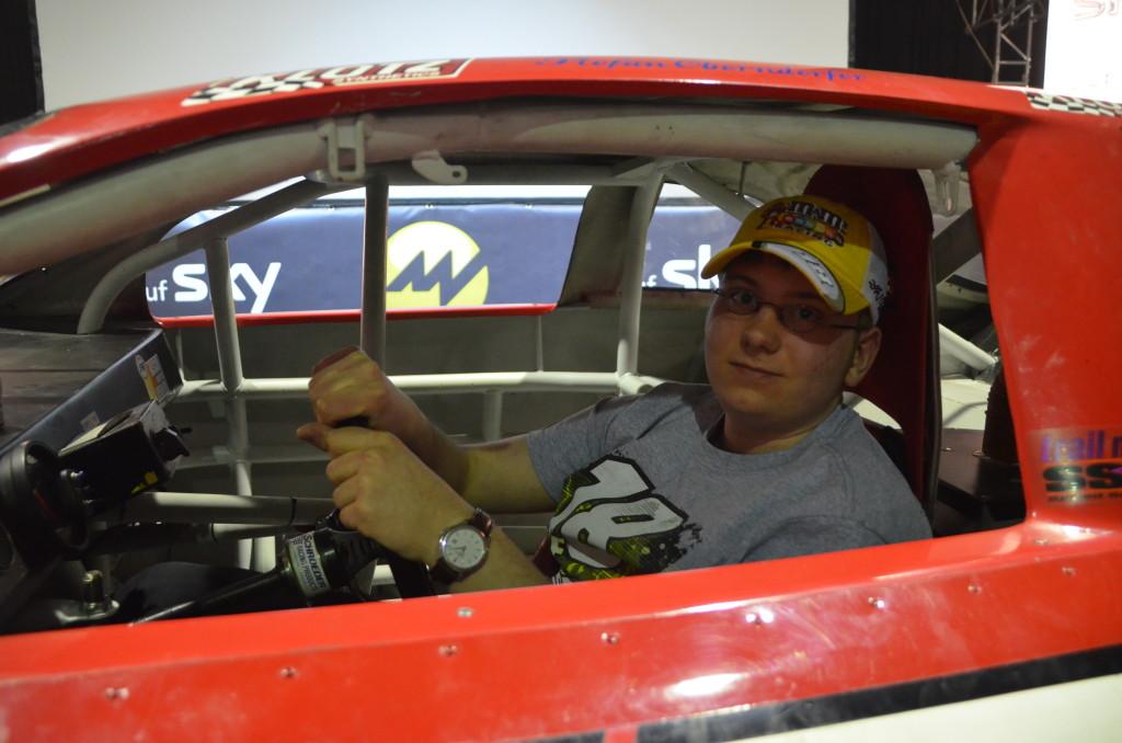 Nach dem Rennen hatte ich die Möglichkeit mich einmal in das Nascar zu setzen!