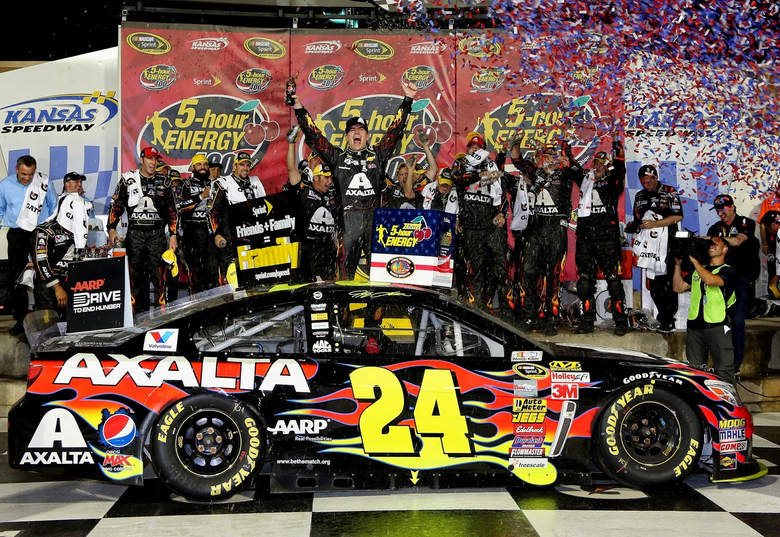 Jeff Gordon 2014 Kansas Win