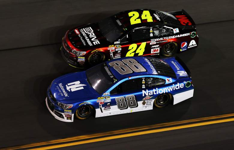 2015 Daytona Budweiser Duel 1 - #88 Dale Earnhardt Jr. vs #24 Jeff Gordon