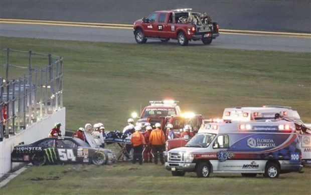 2015 Daytona Xfinity Race - #54 Kyle Busch Crash